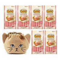 猫巾着おまけ付 ニュートロ とろけるチキン 4本入り×6袋