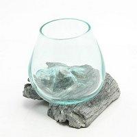 一点物 ガラス流木 クリスタルホワイト Sサイズ 861693