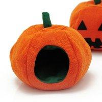 小動物のハウス ハロウィンかぼちゃ 小 ハンドメイド ハリネズミ デグー ハムスター