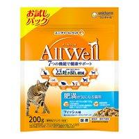 AllWell 肥満が気になる猫用 フィッシュ味挽き小魚とささみフリーズドライパウダー入り 200g