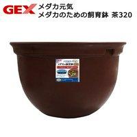 GEX メダカ元気 メダカのための飼育鉢 茶320