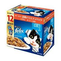 フィリックス やわらかグリル 成猫 お肉バラエティ(チキンビーフ) 12袋入り