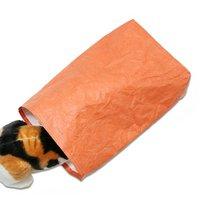 猫様用 かみぶくろ ねこダッシュ【オレンジ】ハンドメイド