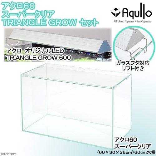 スーパークリア オールガラス60cm水槽 アクロ60S TRIANGLE LED GROW セット お一人様1点限り 沖縄別途送料