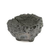 人工溶岩鉢 山草鉢 足つき 小 直径約7cm