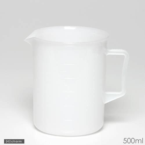 ポリプロピレン手付ビーカー・乳白色 500mL