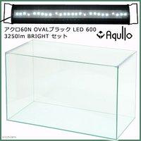 スーパークリア アクロ60S OVALブラック LED 600 3250lm BRIGHT セット