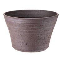 国産 手作り睡蓮鉢 益子焼 彩(SAI) 姫睡蓮鉢 赤楽 直径約23cm ビオトープ