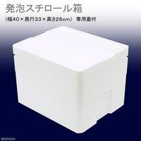 発泡スチロール箱(中)TI-220-2(幅40×奥行33×高さ26cm) フタ付き