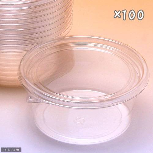 プリンカップ 大浅 約370ml×100個 (DT129−430TC) カブトムシ クワガタ 卵 幼虫 繁殖