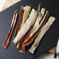 5袋セット 国産 鮭の皮のジャーキー 45g×5袋 無添加 無着色 犬猫用おやつ PackunxCOCOA