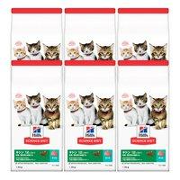 ヒルズ サイエンスダイエット キャットフード キトン 12ヶ月まで 子猫用 まぐろ 1.8kg 健康的な発育をサポート×6袋
