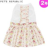 PET'S REPUBLIC 花フリルワンピース 2号 ピンク