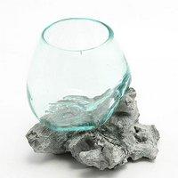 一点物 ガラス流木 クリスタルホワイト Sサイズ 861699