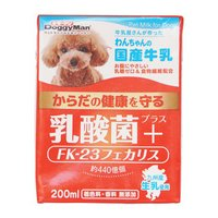 ドギーマン わんちゃんの国産牛乳 乳酸菌プラス 200ml