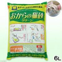 猫砂  常陸化工 おからの猫砂 グリーン 6L