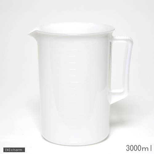ポリプロピレン手付ビーカー・乳白色 3000mL
