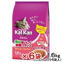 カルカン ドライ まぐろと野菜味 1.6kg(小分けパック4袋入) 6袋
