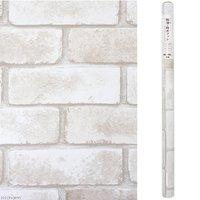 スタイリッシュマット レンガ ホワイト 90×120cm