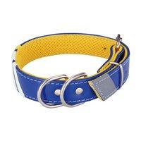 アウトレット品 ペティオ Style Trainer スリーラインカラー L ブルー 大型犬用 犬 首輪 首回り41~50cm 訳あり