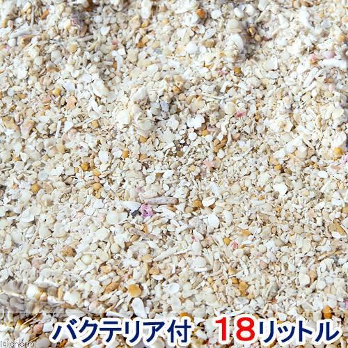 (海水魚 サンゴ砂)バクテリア付き ライブアラゴナイトサンド(約18L) 海水水槽用底砂 沖縄別途送料