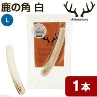 鹿の角 白 Lサイズ 長さ14~18cm以下 1本 中型犬 大型犬 サンドブラスト加工 おもちゃ デンタルケア