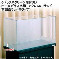 バックスクリーン貼付済 サンド オールガラス60cm水槽 アクロ60N 前側面5cm帯タイプ(単体)