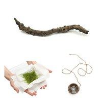 ウィローモス(無農薬)(1パック) +スティック流木(無農薬)(1本)糸付 説明書付