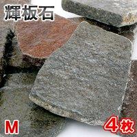 形状お任せ 輝板石 Mサイズ 4枚 国産品
