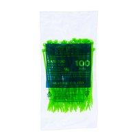 サンゴ配線の仕分けに便利 結束バンド 蛍光グリーン 100mm 100本入