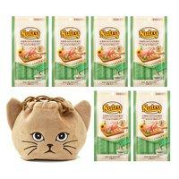 猫巾着おまけ付 ニュートロ とろけるチキン&チキンレバー 4本入り×6袋