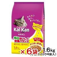 カルカン ドライ かつおと野菜味 1.6kg(小分けパック4袋入) 6袋