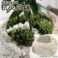 形状おまかせ 抗火石鉢 大 穴径11~12cm 1個 ミニミニ盆栽鉢