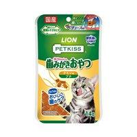 ライオン PETKISS 猫ちゃんの歯みがきおやつ チキン味 プチ 14g