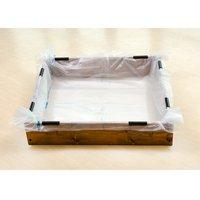 お手軽ビオトープ 池製作キット(W90×D90×H18.5cm) ブラウン