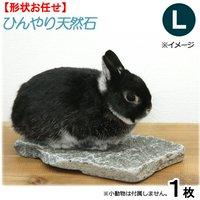 ひんやり天然石 L 形状おまかせ うさぎ モルモット 保冷用品