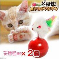 マルカン ど根性起き上がりねずみ 猫 猫用おもちゃ おきあがりこぼし 2個入り