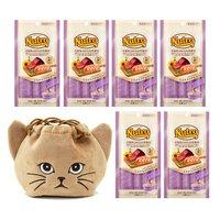 猫巾着おまけ付 ニュートロ とろけるツナ&エビ 4本入り×6袋
