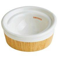 ペティオ 猫用食器 necoco 食べやすい 木目調 陶器食器 ドライフード向き