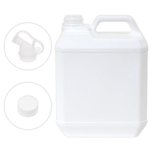 ポリ容器 キャップ・透ノズル付き 4L (空ボトル)