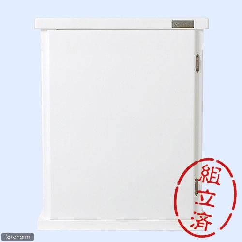 アウトレット品 同梱不可・中型便手数料 (組立済)水槽台 ウッドキャビ ホワイト 600×300 60cm水槽用(キャビネット) 才数170 訳あり