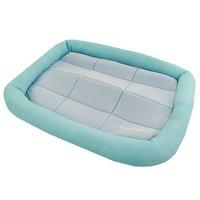 アウトレット品 アスク 超冷感メッシュクール マットベッド M ライトブルー 洗えるベッド 接触冷感生地 訳あり