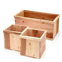 新 りんご箱+木箱 3点セット 無塗装 ガーデニング DIY素材