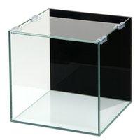 バックスクリーン貼付済 ジェットブラック オールガラス25cm水槽 アクロ25N(25×25×25cm)(単体)