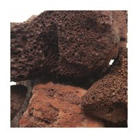 形状お任せ 紅溶岩石 サイズミックス 3kg 溶岩石