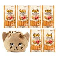 猫巾着おまけ付 ニュートロ とろけるチキン&ビーフ 4本入り×6袋