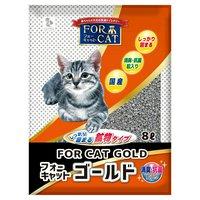 猫砂 新東北化学工業 フォーキャット ゴールド 8L 2袋入り 猫砂 ベントナイト 国産