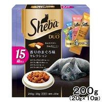 シーバデュオ 15歳以上 香りのまぐろ味セレクション 200g(20g×10袋) キャットフード