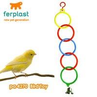 ファープラスト プラスチックリングトイ 小鳥用 止まり木おもちゃ 鈴付き PA4270 おもちゃ 止まり木 バードトイ
