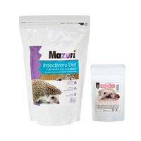 アソート Mazuri インセクティボアフード 1.36kg+ハリネズミの食事 昆虫食サポート ミルワーム&コオロギソフト 30g